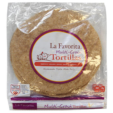 La Favorita Multi-Grain Whole Wheat Tortillas (10 ct., 2 pk.)