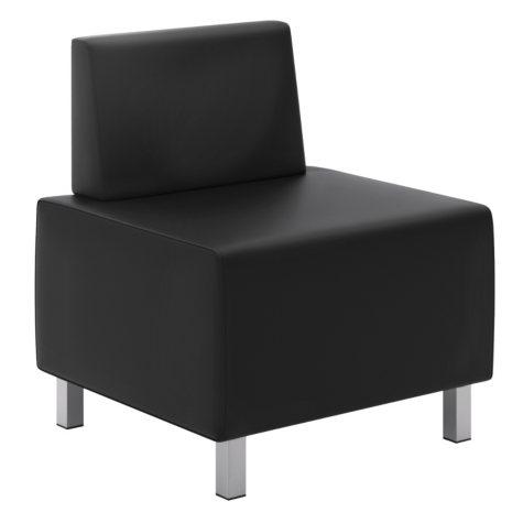basyx VL860 Series Modular Chair, Black/Silver