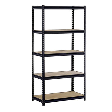 Edsal Heavy-Duty Steel Shelving - Black