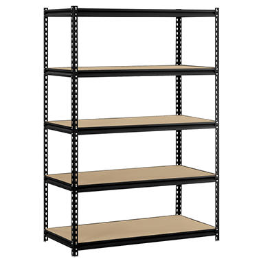 Edsal 5-level Heavy Duty Steel Shelving - Black
