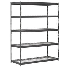 Muscle Rack 5-Level Heavy Duty Steel Shelving Black