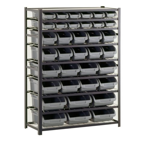 Sandusky 36-Bin Industrial Storage Rack - Black