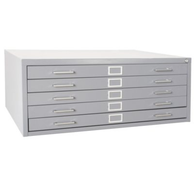 Sandusky 5 Drawer Flat File Cabinet, Legal/Letter (Various Colors) by Sandusky
