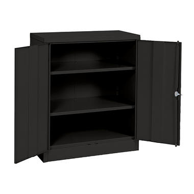 Sandusky Quick Assembly Steel Counter Height Cabinet Black 36 W X 18 D X 42 H Sam 39 S Club