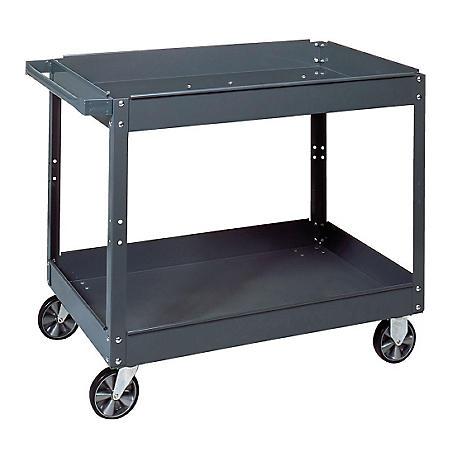 "Edsal Commercial Steel Service Cart, 16""W x 30""L x 3.5""H"