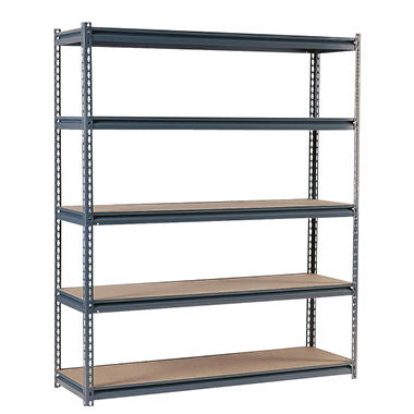 Edsal Heavy Duty 16-gauge Boltless Steel Shelving - 60 in. W x 36 in. D  x 72 in. H