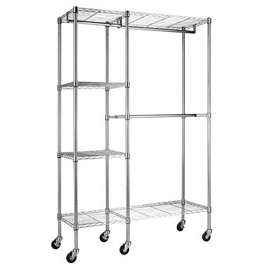 Steel Garment Rack in Chrome (48
