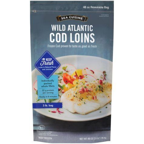 Sea Cuisine Wild Atlantic Cod Loins (48 oz.)