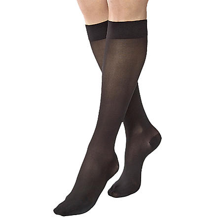 JOBST UltraSheer Compression Stockings with SoftFit, 15-20 mmHg, Classic Black (Choose Your Size)