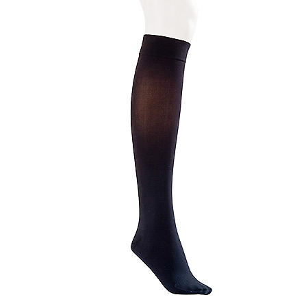 JOBST Opaque Compression Stockings with SoftFit, 15-20 mmHg, Classic Black (Choose Your Size)