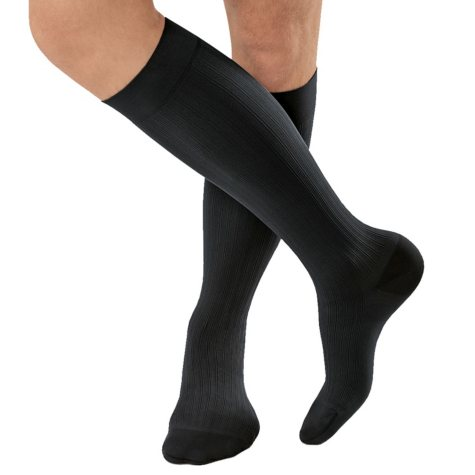 JOBST® for Men Ambition Compression Socks  w/ SoftFit, 20-30 mmHg, Black 1-pair, Size 1