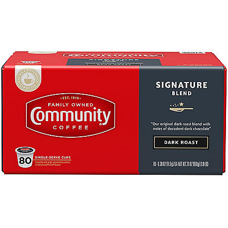 Community Coffee Single Serve Pods, Dark Roast (80 ct.)