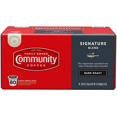 Community Coffee Single Serve Pods, Dark Roast