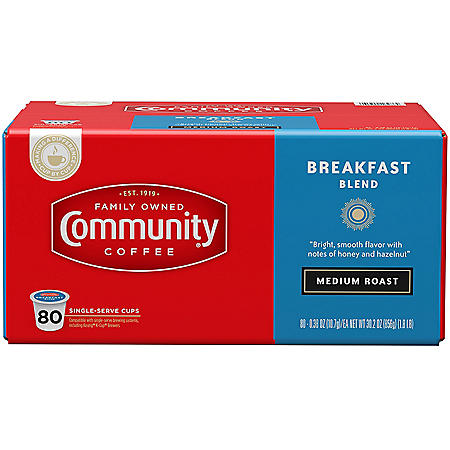 Community Coffee Single Serve Cups, Breakfast Blend (80 ct.)