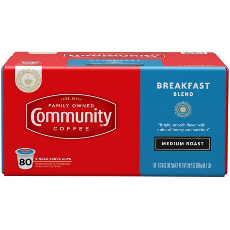 Community Coffee Single Serve Pods, Breakfast Blend (80 ct.)