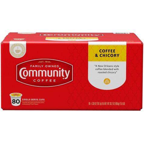 Community Coffee Single Serve Pods, Coffee & Chicory