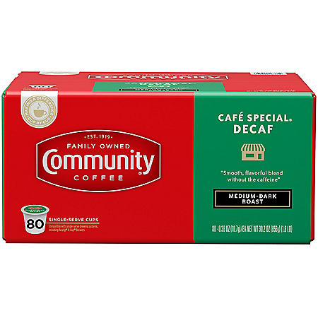 Community Coffee Café Special Decaf Single-Serve Pods (80 ct.)