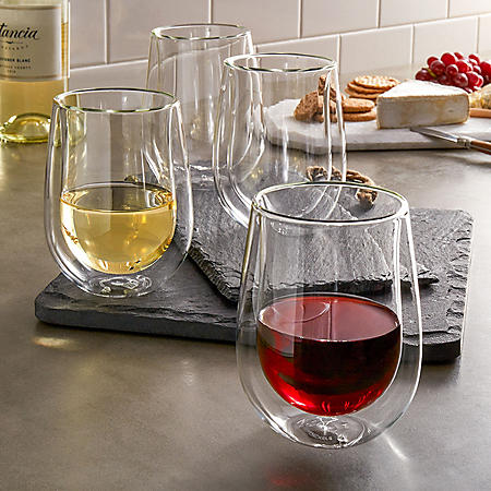 Henckels International 10-oz. Double Wall Wine Glass, 4 Pack