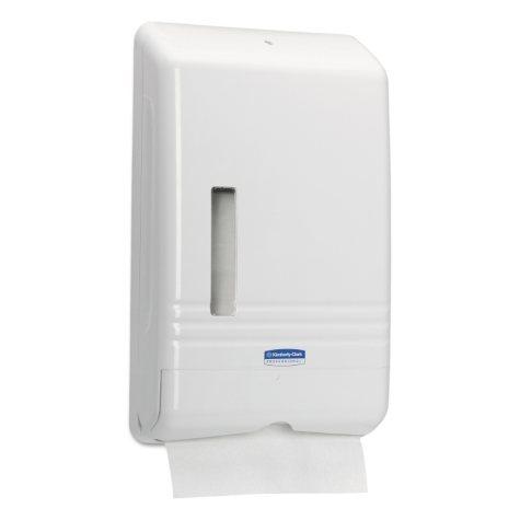 Kimberly-Clark Professional - Kleenex Slimfold Towel Dispenser, 14w x 9d x 23h -  White