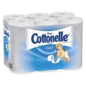 Cottonelle - Ultra Soft Bath Tissue, 1-Ply, 165 Sheets/Roll - 48/Carton
