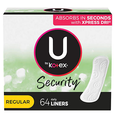 U by Kotex Lightdays Pantiliners, Regular, Unscented (192 ct.)