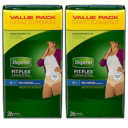 Depend Underwear for Women, Extra-Large (52 ct.)