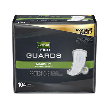 Depend Guards for Men, One Size Fits All (104 ct.)