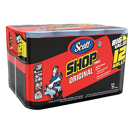Scott Shop Towels (12 rolls)