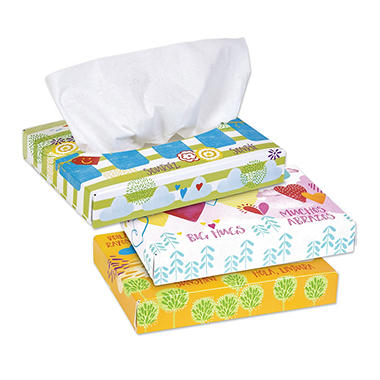Kleenex Facial Tissue Flat Box, 2-ply (68 tissues per box, 48 boxes)