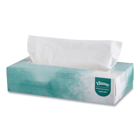 Kleenex Naturals Facial Tissue Flat Box, 2-Ply (125 sheets per box, 48 boxes)