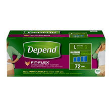Depend for Women Underwear, Maximum Absorbency, Large (72 ct.)