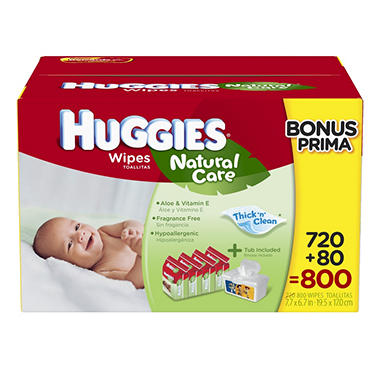 Huggies Natural Care Baby Wipes - 800 ct.