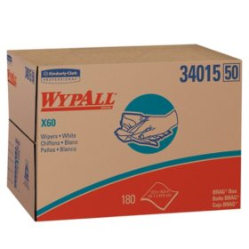 WypAll* - X60 Wipers, 12 1/2 x 16 7/8 -  180/Box