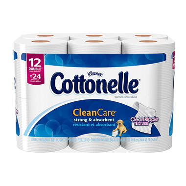 Cottonelle Clean Care Double Roll Toilet Paper (12 ct.)