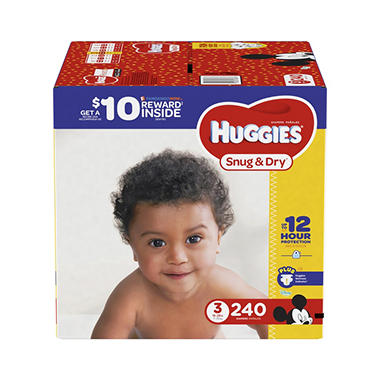 Huggies Snug & Dry Diapers (Choose Your Size)