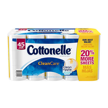 Cottonelle Clean Care Toilet Paper (45 Rolls, 250 Sheets)