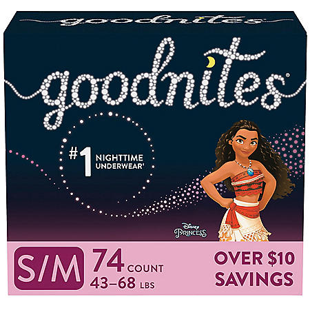 GoodNites Bedtime Underwear for Girls (Choose Your Size)
