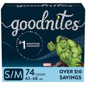 GoodNites Bedtime Underwear for Boys (Choose Your Size)
