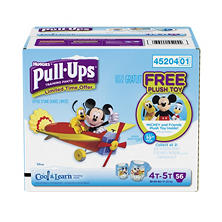 Huggies Pull-Ups Cool & Learn Training Pants for Boys Special Pack, 4T -5T (56 ct.)