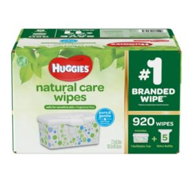 Huggies Natural Care Baby Wipe Refill, Unscented (920 ct.)
