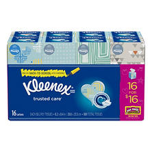 Kleenex Mainline Flat Facial Tissue (16 Pk, 880 sheets)