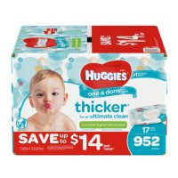 Huggies One & Done Baby Scented Wipes,952 ct.