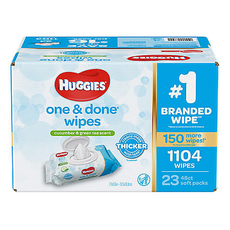 Huggies One & Done Baby Wipes, Scented (1,104 ct.)