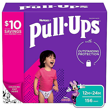 Huggies Pull-Ups Training Pants for Girls (Choose Your Size)