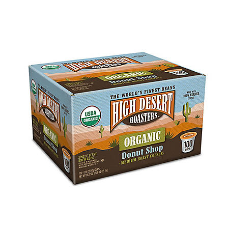 OFFLINE-High Desert Roasters Organic Donut Shop Medium Roast Coffee (100 ct.)