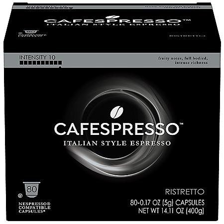 Cafespresso Ristretto Nespresso Compatible Capsules (0.17 oz. ea., 80 ct.)