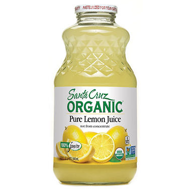 Santa Cruz Organic 100% Lemon Juice (32 oz.)