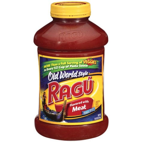 Ragu Old World Style Pasta Sauce Flavored w/Meat - 66 oz.