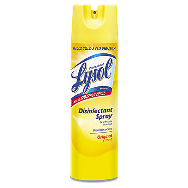 Professional Lysol Disinfectant Spray, Original Scent (19 oz., 12 cans)