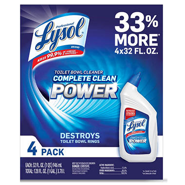 Lysol Professional Toilet Bowl Cleaner, Original (32 Oz., 4 Pk.)
